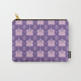 Gentle Pastel Pink  Lotus Flower Pattern Carry-All Pouch