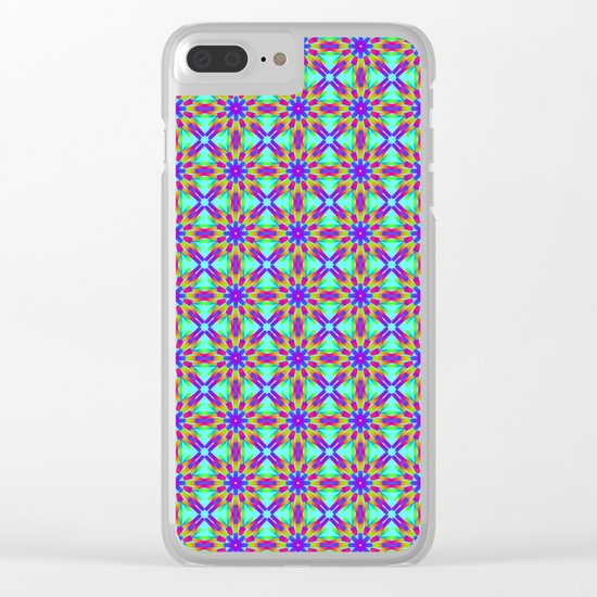 Tribal patterns in rainbow colors Clear iPhone Case