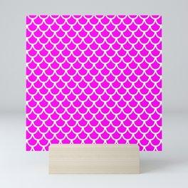 Scales (White & Magenta Pattern) Mini Art Print