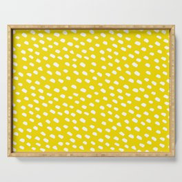 Brush Dot Pattern Yellow Serving Tray