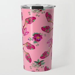 Poinsettia Dance Shoes, Christmas, Holidays, New Year Party Travel Mug