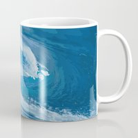 wave Mugs featuring Wave by Baris erdem