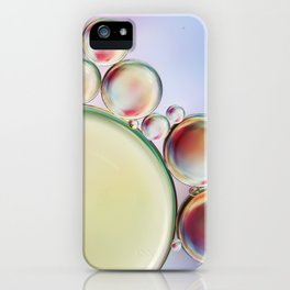 Bubble Abstract with a hint of Pink iPhone Case