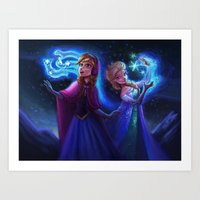 frozen Art Prints featuring frozen by KATIE PAYNE