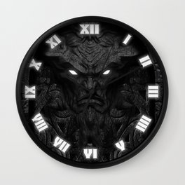 The Demon Door Wall Clock
