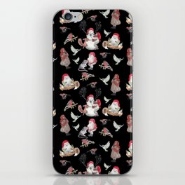Black gnome pattern - Christmas iPhone Skin