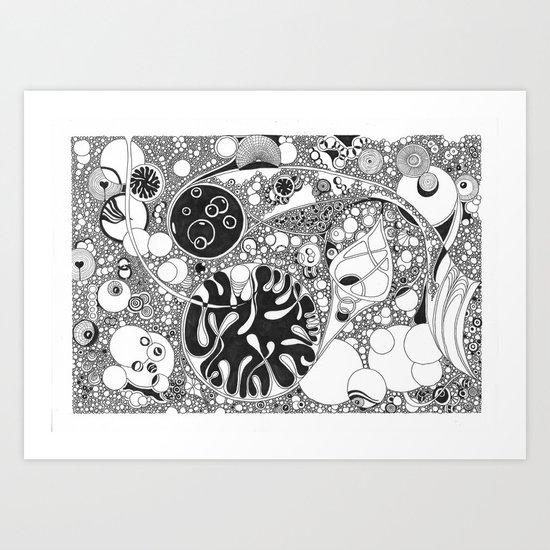 Circled circle Art Print