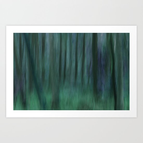 Painted Trees 2 Aqua Art Print