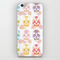 sugar skulls iPhone & iPod Skins featuring Sugar Skulls by Bird & Bow Studios