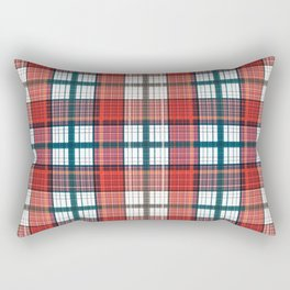 Colorful red grey plaid . Rectangular Pillow