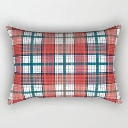 Colorful red grey plaid . Rectangular Pillow