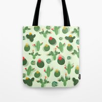 succulent Tote Bags featuring Succulent by Kakel