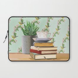 Tea and book love Laptop Sleeve