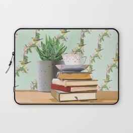 Tea and book love Laptop Sleeve