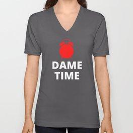 Dame Time Clock Unisex V-Neck
