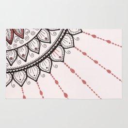 Mandala - Pink and Black Rug