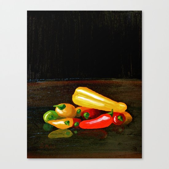Peppers From a Friend, the painting Canvas Print