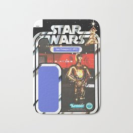 C3P0 See-Threepio Vintage Action Figure Card Bath Mat