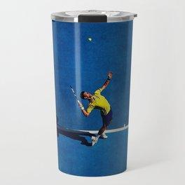 Novak Djokovic Tennis Serving Travel Mug