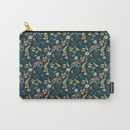 Smiling Elephants in the Jungle Carry-All Pouch