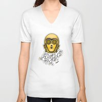 stay gold V-neck T-shirts featuring Stay Gold by Amanda Marie Bell