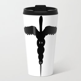 Caduceus Medical Symbol Isolated Travel Mug