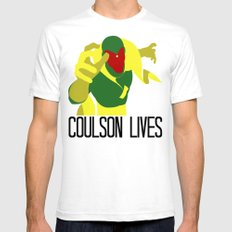 Agent Coulson, My One Good Eye. SMALL White Mens Fitted Tee