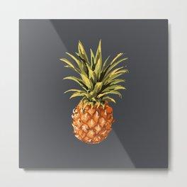 Pineapples Pattern Metal Print