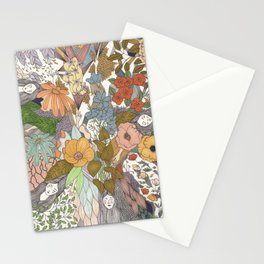 Falling Asleep in the Flowers Fine Art Print Stationery Cards