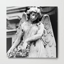 Angel Statue Looking Down in Argentina Metal Print