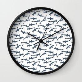 Hammer shark pattern Wall Clock