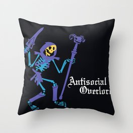 Antisocial Overlord Throw Pillow