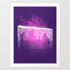 La Ville au Peigne Fin Art Print
