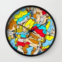 Primary Body Slugs Wall Clock