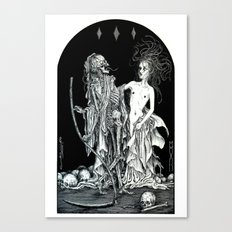 Death and the Maiden I Canvas Print