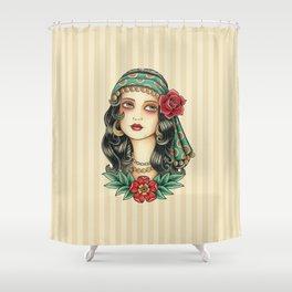 Gipsy tattoo Shower Curtain