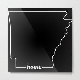Arkansas State USA Pride Home Metal Print