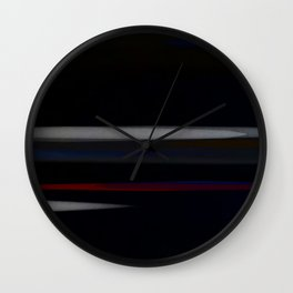 Minimalist Grey Lines Abstract Art Design Wall Clock