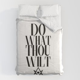 Do What Thou Wilt (Light) Comforters