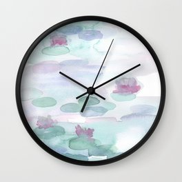 Monet Lily pads Wall Clock