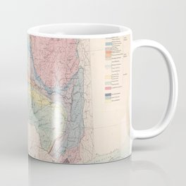 Vintage Geological Map of New York State (1870) Coffee Mug