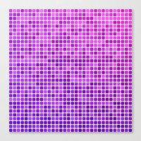 mosaic Canvas Prints featuring Pink purple mosaic by David Zydd - Colorful Mandalas & Abstrac