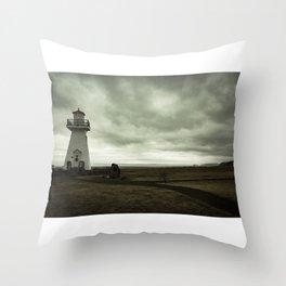 Solitary Lighthouse Throw Pillow
