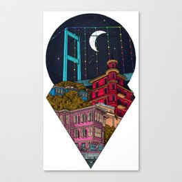 Night carries the lights Canvas Print