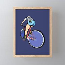 Fixie Cyclist Framed Mini Art Print