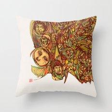 Somebody's Family Portrait Throw Pillow
