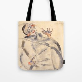 "Egon Schiele ""I Will Gladly Endure for Art and My Loved Ones"" Tote Bag"
