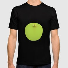 Apple 08 Black MEDIUM Mens Fitted Tee