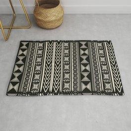 Boho Mud cloth (Black and White) Rug