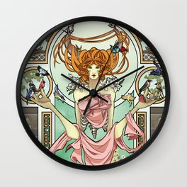 Lady Spring Wall Clock